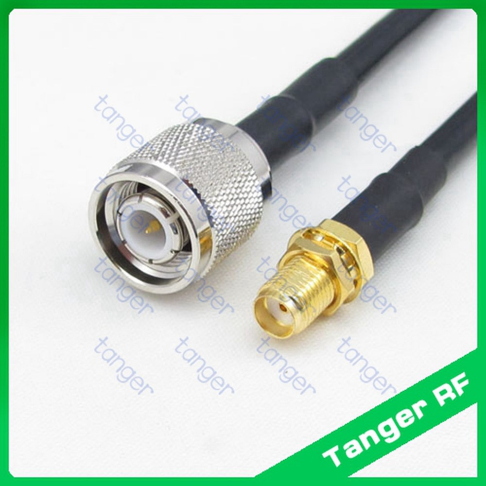 Hot selling Tanger TNC male plug to SMA female jack straight RF RG58 Pigtail Jumper Coaxial Cable 3feet 100cm and High Quality цена