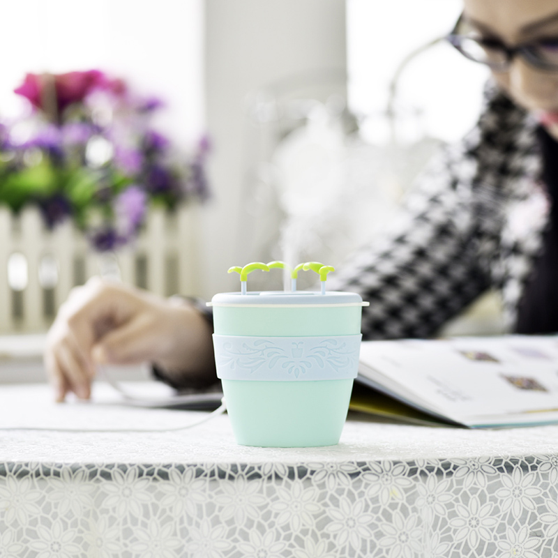 GXZ 200ml USB Potted Plant Humidifier Ultrasonic Negative Ion Air Humidifiers Mist Maker Mini Office Household Air Purifier dmwd ultrasonic car air purifier solar energy office household aroma humidifier negative ions remove formaldehyde haze and pm2 5
