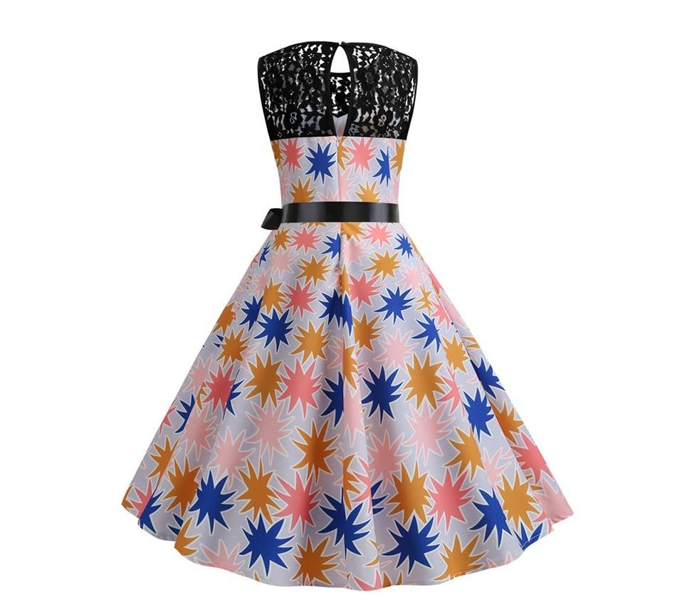 Koktejlové párty šaty jednofarebné s čipkou (10 variánt) 9