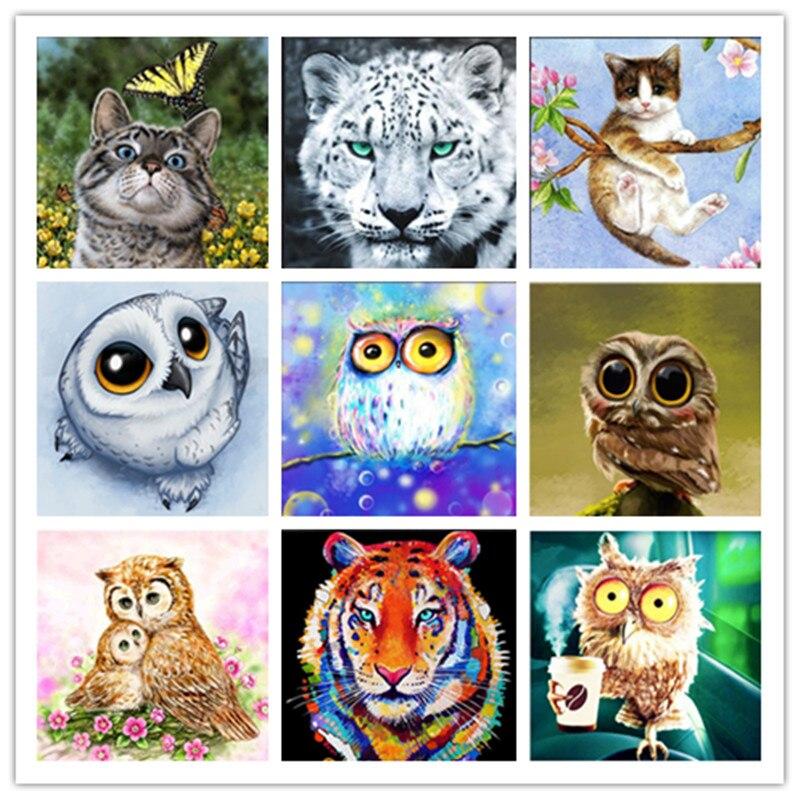 DIY 5D Diamond Painting Mosaic Cartoon Cute pet Animals Handmade Diamond Cross stitch Set Diamond Embroidery