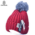 [COSPLACOOL] Joker knitting hat Patch the bulb more warm hat Set head cap women's knitted cap fashion women hats