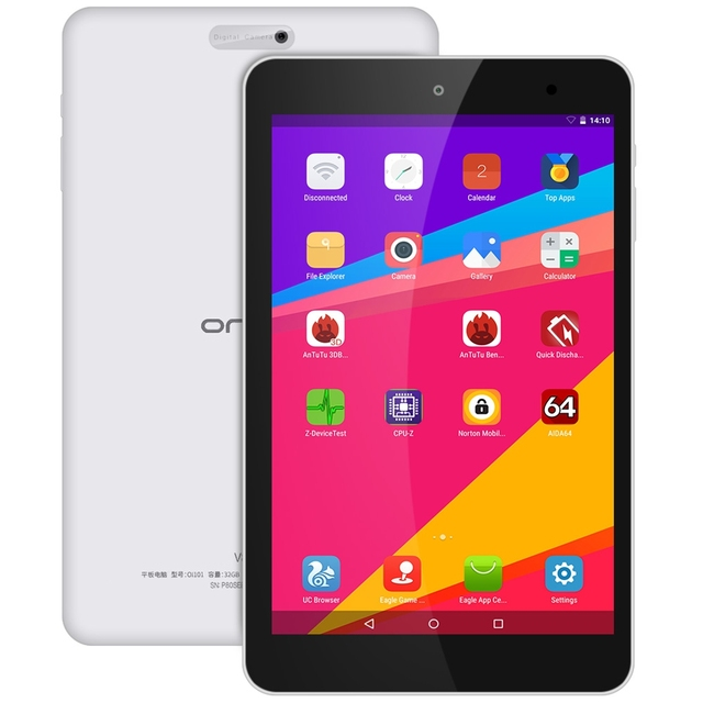 8 Inch Onda V80 SE Android 5.1 Tablet PC 1920*1080 IPS Screen Allwinner A64 Quad Core 2GB RAM+ 32GB eMMC ROM Dual cameras
