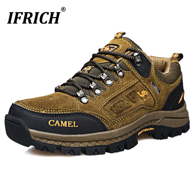 Classic Brand Sneakers Trekking Men Spring Outdoor Hiking Shoes Male Anti-Slippery Male Camping Shoes Lace Up Sneakers For Men