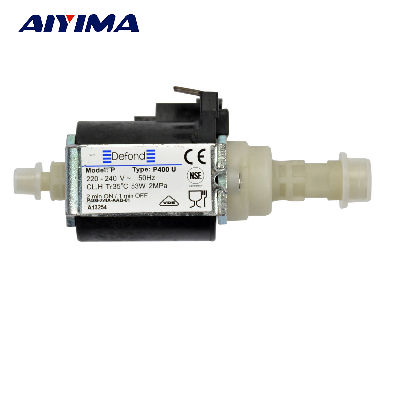 AIYIMA AC220 240V Micro Electromagnetic Water Pump 53W High Pressure Solenoid Pumps For Coffee Machine Medical