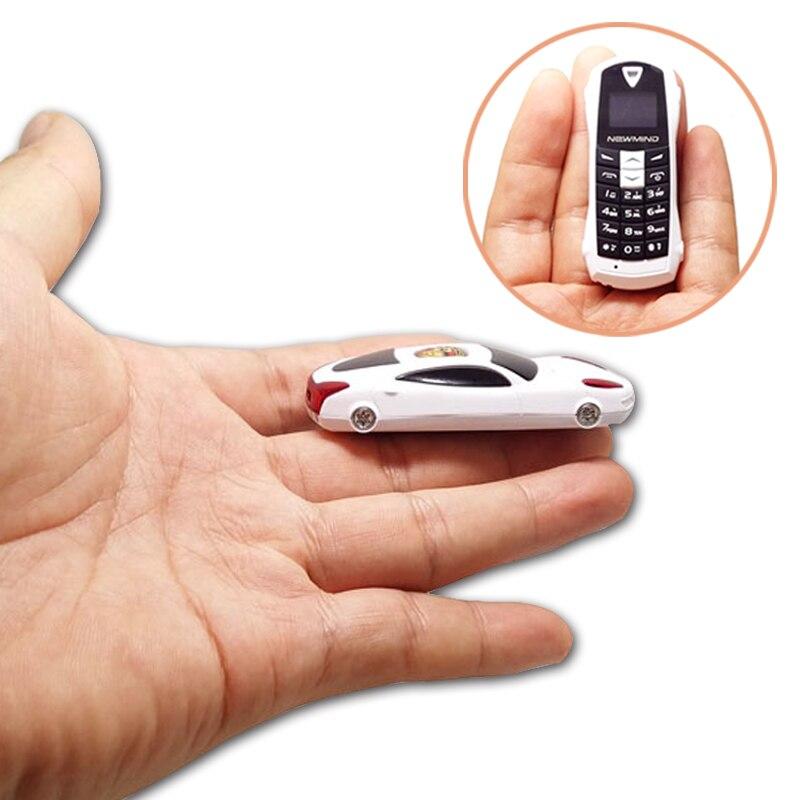 Newmind F1 Qual band Smallest mini cell phone Car model earphone phone handset bluetooth 3 0