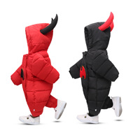Winter Thick Warm Cartoon Baby boy Clothing High quality 2017 NEW Baby Rompers Long Sleeve Hooded Jumpsuit Kids Newborn Outwear