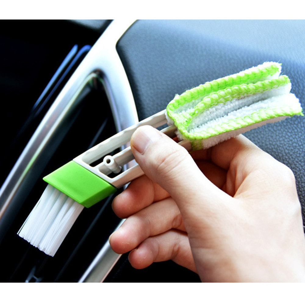 Portable Double Ended Car Air Conditioner Vent Slit Cleaner Brush Instrumentation Dusting Blinds Keyboard Cleaning Brush #YL6