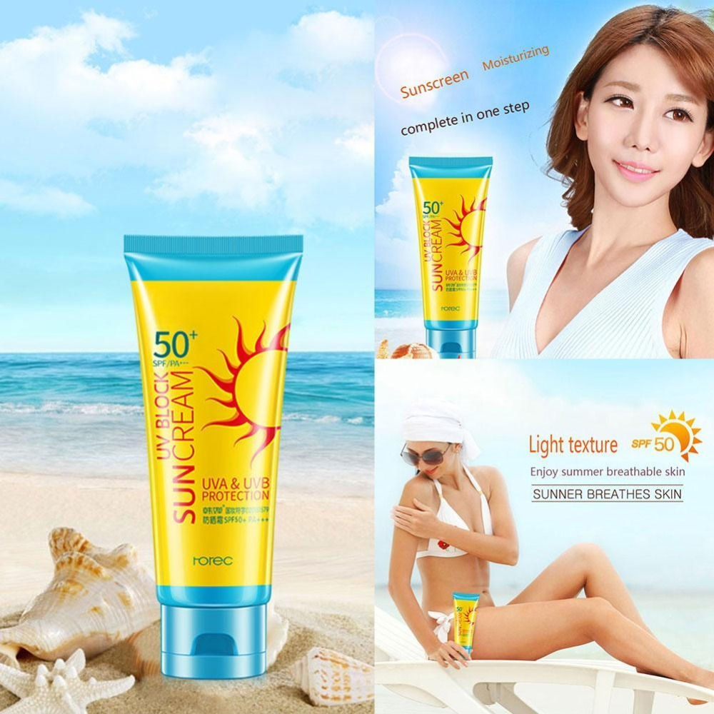 Facial Sunscreen Cream SPF50+ Isolation Face Cream Protector Whitening UV Sunblock Body Sunscreen Concealer Free Shiping