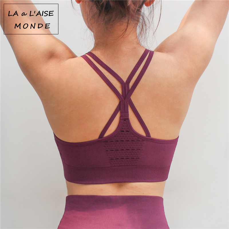 a0b391bac7d4a Female Cross Bras Seamless Yoga Sports Bra Top Sport Bh Active Wear For Women  Gym Brassiere Woman Fitness Tops Women s Clothing