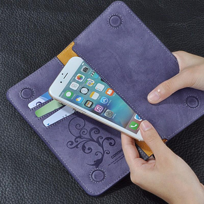 5.5 Uniwersalny Vintage Odwróć Skórzany Portfel Etui Do IPhone 5 6 7 Plus dla HTC Huawei LG Sony Dla Samsung S4 S6 Krawędzi Uwaga 7 Case 14
