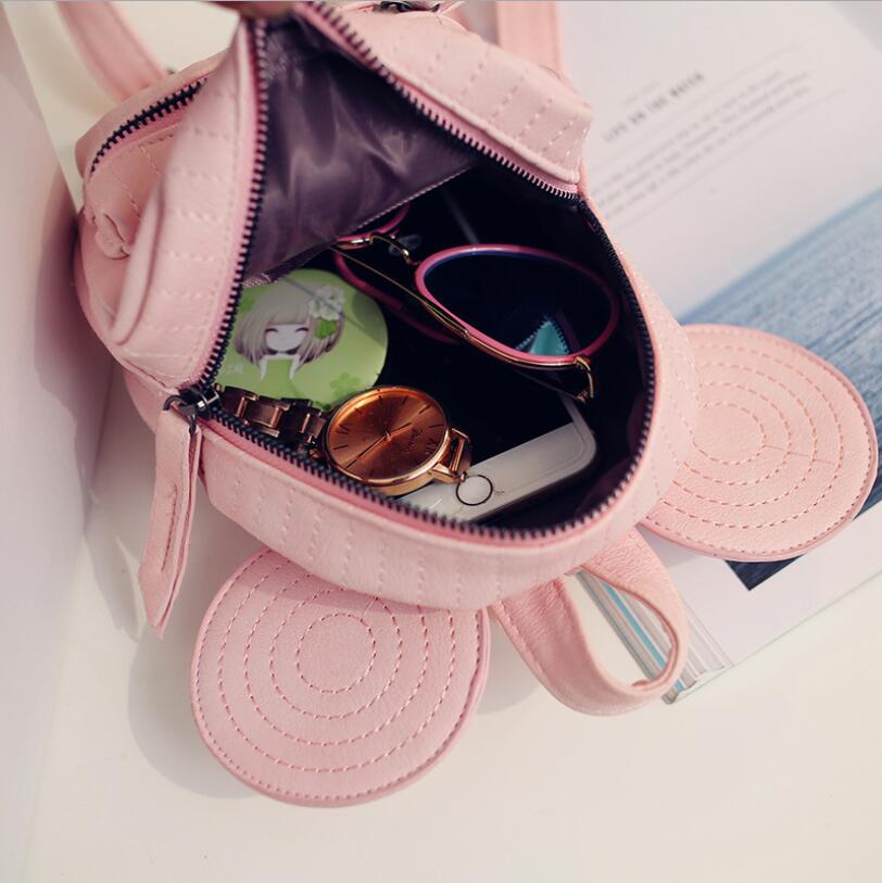 Aliexpress.com   Buy mini bag travel cute bag with Mickey ears fashion  Female leather backpack women small backpacks school men bags for girl from  Reliable ... 9b769214ce635