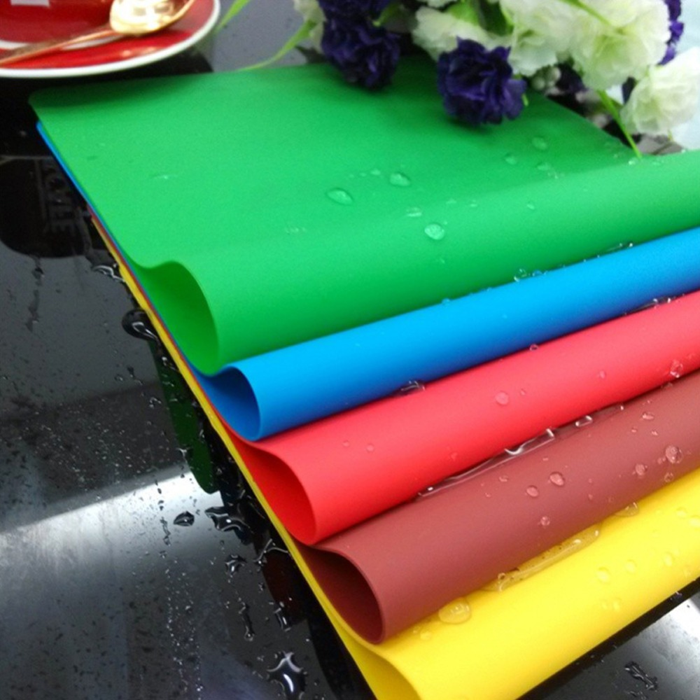 1pc Rectangle Place Mats Placemat Heat Resistant Pad Bakeware Non Slip Table  Mats Silicone(china