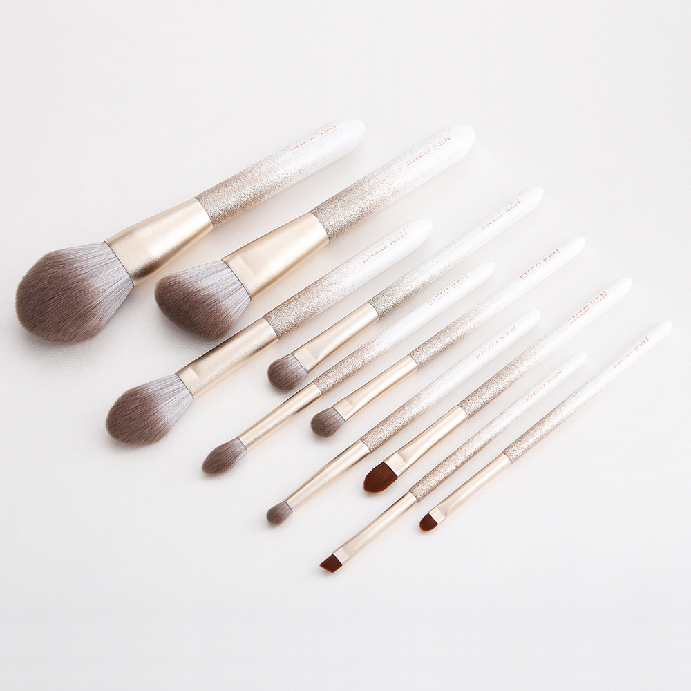 ENZO KEN 10 Pcs Makeup Brushes Set for Highlighting and Contouring Suitable for Eye and Face Makeup 18