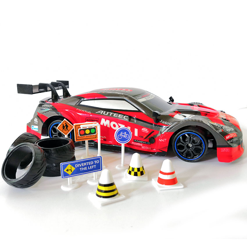 Image 3 - 4WD drive rapid drift car Remote Control GTR Car 2.4G Radio Control Off Road Vehicle RC car Drift High Speed Model car-in RC Cars from Toys & Hobbies
