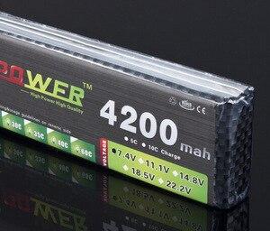 2 sztuk/partia 7.4V 4200MAH moc bateria lipo producentów 25C 7.4V 4200MAH dużej pojemności 2S 1/8/10 samochodów super przemocy