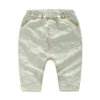 Baby jongen dragen witte gat jeans 2018 zomer kinderen broek capri Kids baby Brief stiksels Broek jongen Casual Jeans