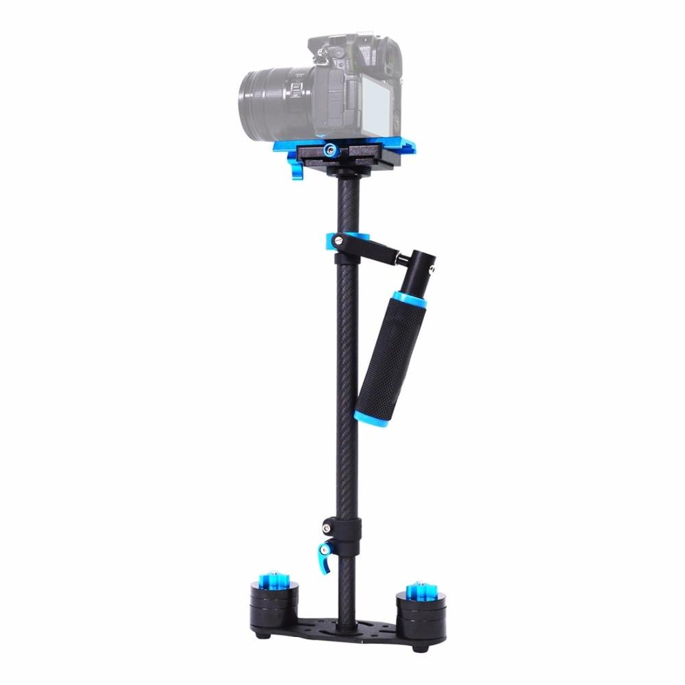 YELANGU S60T professionnel Portable en Fiber de carbone Mini stabilisateur de caméra Portable DSLR caméscope vidéo Steadicam