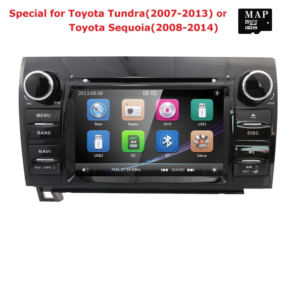 2 din Touch Screen Car Radio Stereo for Toyota Tundra Sequoia 7 Inch 800*480 HD Radio RDS AM/FM 3G SWC IPOD CANBUS SD USB BT MAP