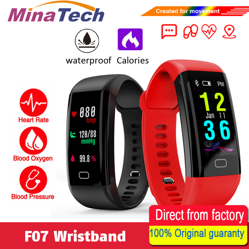 F07 Waterproof Smart Bracelet Heart Rate Monitor Blood Pressure Fitness Tracker Smart band Sport Watch for ios android or IOS