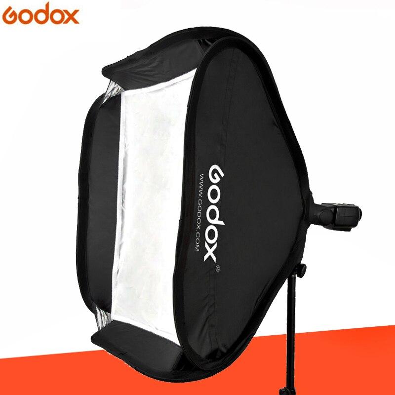 Godox Softbox 60x60 cm Diffuser Reflector for Speedlite Flash Light Professional Photo Studio Camera Flash Fit Bowens Elinchrom аксессуары для фотостудий godox 60x60cm flash bowens elinchrom