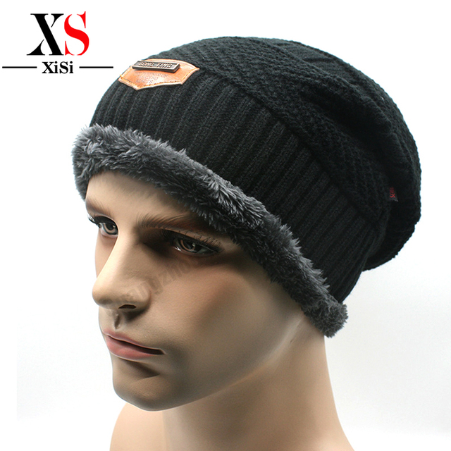 f1eabe89 New Arrival Winter Beanie Men Hat Snow Caps Knit Hat Skull Chunky Baggy Warm  Skullies Acrylic Casual Style Hip Hop Cap