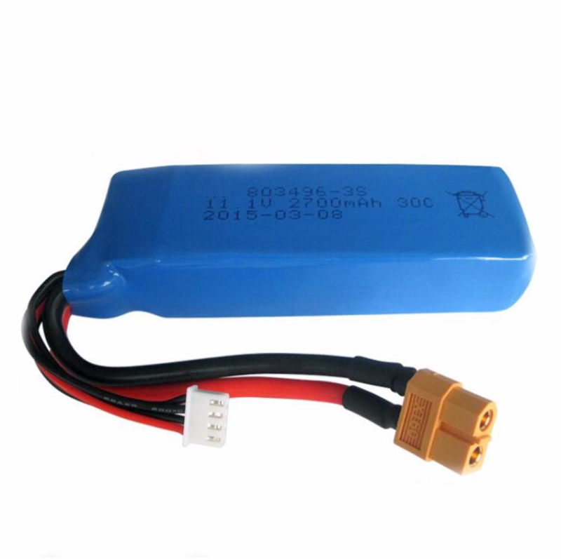 11.1V 2700mAh battery for <font><b>WLtoys</b></font> WL913 RC boat <font><b>wltoys</b></font> V303 <font><b>V393</b></font> CX20 RC Quadcopter drone toy spare parts battery image