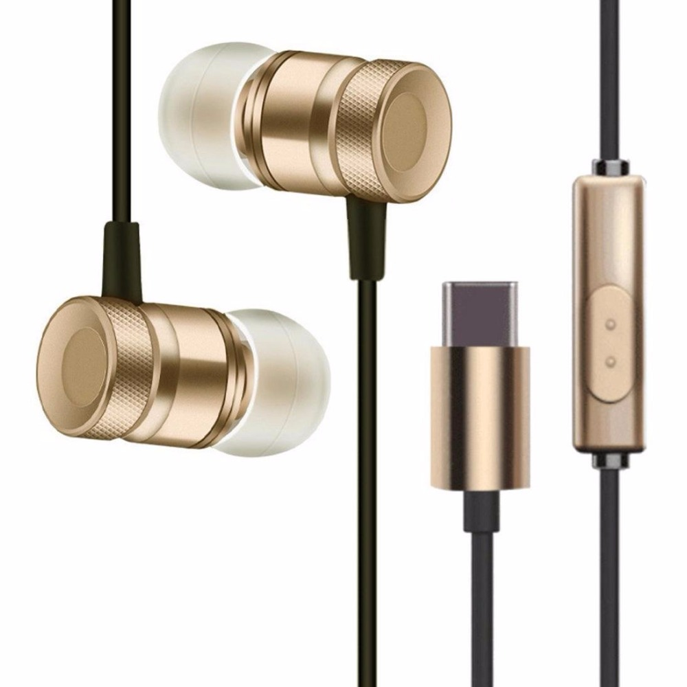 USB Type-C Earphone Metal Earphone Wire Control Headset Type C Digital headphone Earbuds For Letv LeEco Le 2 max 2 Pro 3 Mp3 Mp4 haissky type c earphone for letv leeco le 2 pro le 2 max le pro 3 huawei p9 xiaomi mi5 mi6 wired phone earphones headphone
