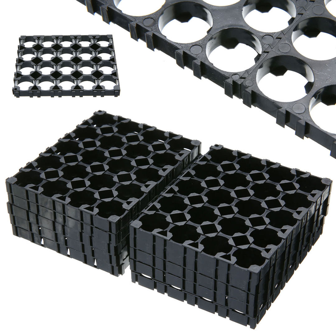 Onsale 10Pcs 4x5 Cell Battery Spacer 18650 Battery Radiating Shell Pack Plastic Heat Holder BracketOnsale 10Pcs 4x5 Cell Battery Spacer 18650 Battery Radiating Shell Pack Plastic Heat Holder Bracket