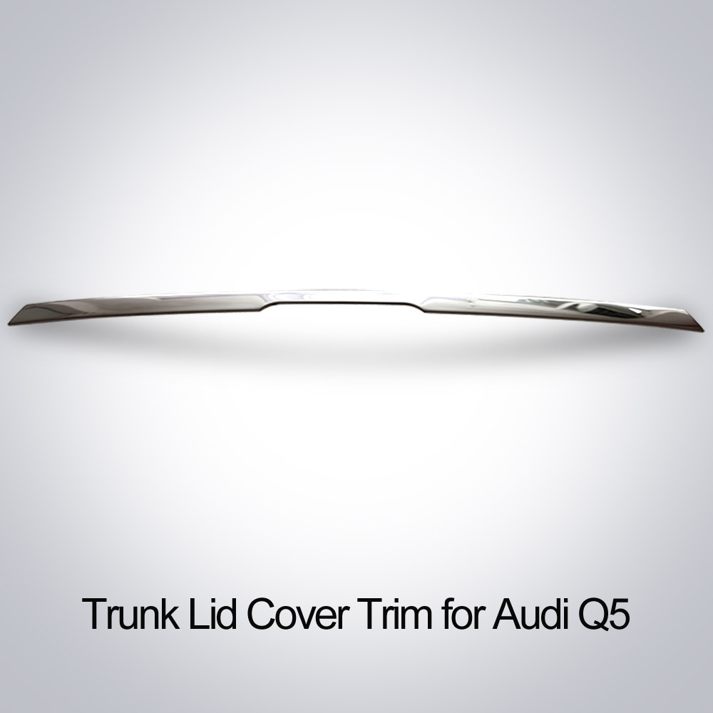 High quality stainless steel chrome trunk lid cover trim tail door molding for 2009 2010 2011 2012 2013 2014 Audi Q5 high quality stainless steel chrome body side moulding cover trim for 2009 2010 2011 2012 2013 2014 audi q5 car styling