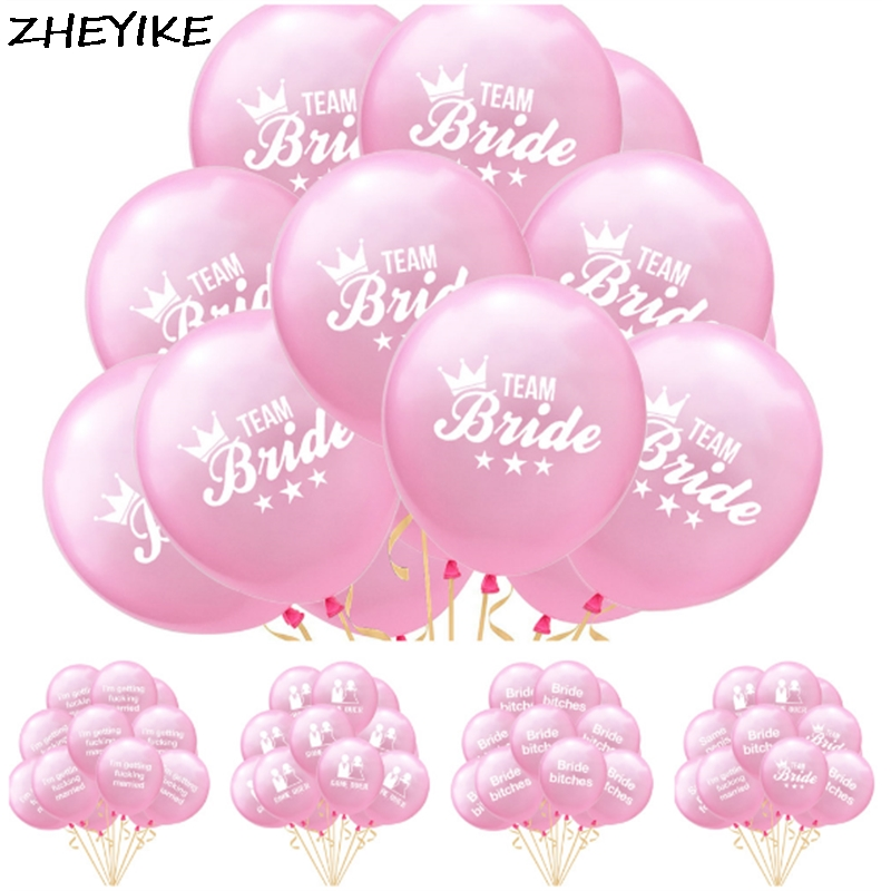 ZHEYIKE 10pcs/lot Balloons Wedding Team Bride Balloons