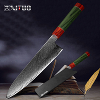 XITUO Damascus Chef Knife 8 Angle Handle Professional Japan vg10 Damascus Steel Kitchen Slice Cut Meat Cleaver Fish Sushi Knife