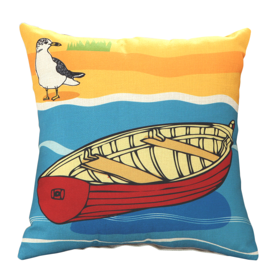 RUBIHOME New Design Sea Beach Boat Marine Decoration Decorative Cushion Cover Throw Pillowcase Polyester Fabric Home Decor Sofa