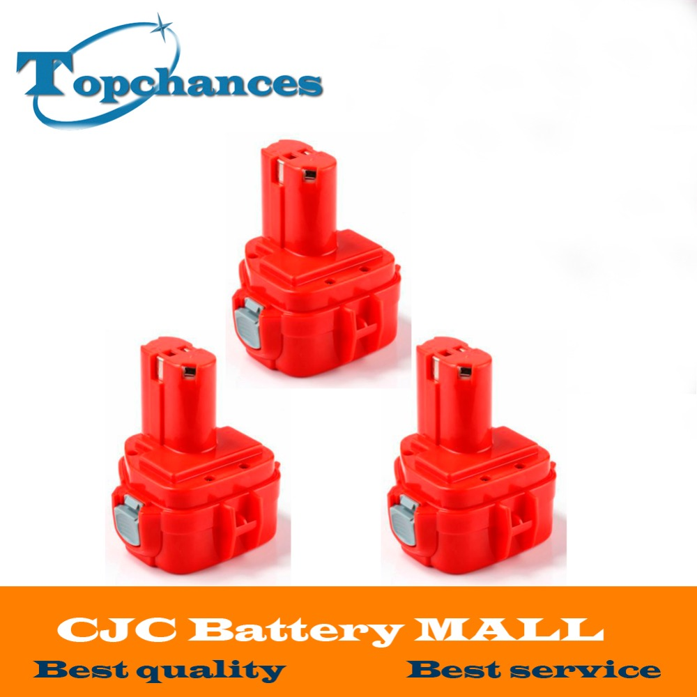 High Quality 3x 2000mAh 12V NI-CD Power Tool Battery for MAKITA 1220 1222 193981-6 6227D 6313D 6317D