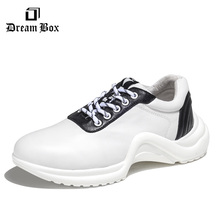 купить Summer Europe and America simple tie sneakers increase thick-soled shoes casual shoes men по цене 4168.4 рублей