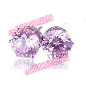 Nova chegada 8mm colorido brilhante brincos do parafuso prisioneiro grande luxo cristal austríaco brincos femininos para as mulheres melhores presentes marca jóias