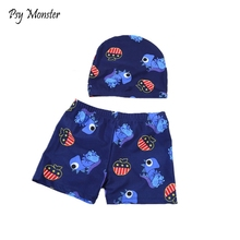 ec26531661f 2018 Boys Beach Shorts With Hat Kids swimming trunks children swimsuits  Boys Swimwear Swim Bathing Clothes · 5 Colors Available
