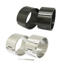 polished Brushed silver Black 100% stainless steel wrist ankle cuffs lockable bangle slave bracelets jewelry(China)