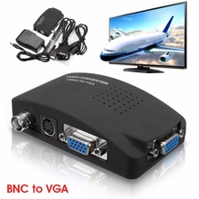 LEORY BNC Digital AV/S-video To VGA RCA TV Signal Converter Adapter Video Switch Conversion For Laptop PC Moniteur TV Box
