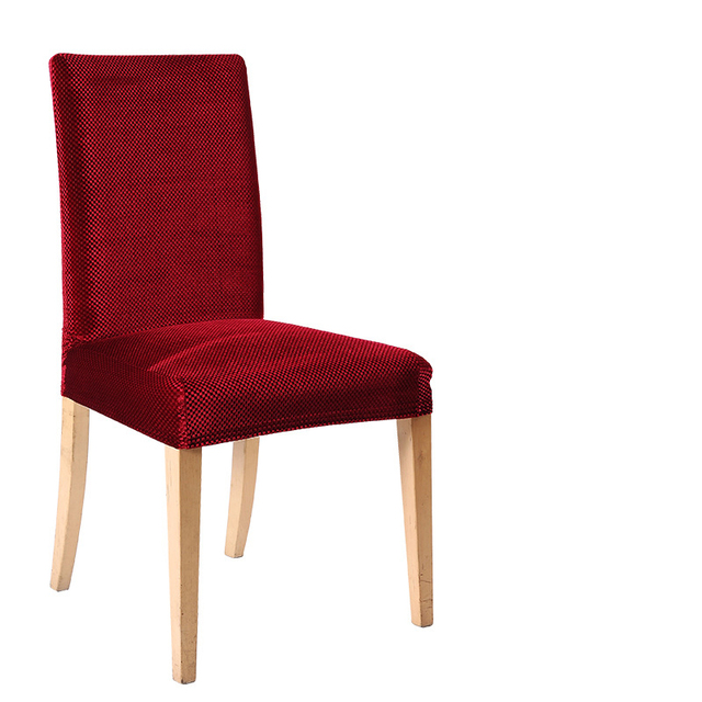 Red wine dining chair covers spandex stretch cover for office ...