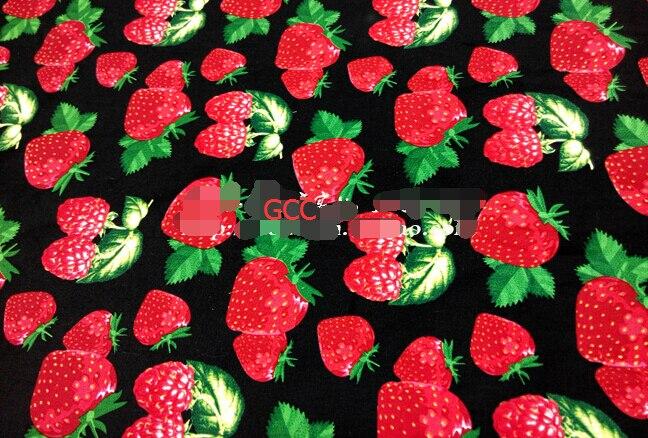 Rosso fragola stampa 100% cotone 140X100 cm quilting tessuto meter per il cucito tessile abbigliamento vestito materiale della rappezzatura diy tessuto