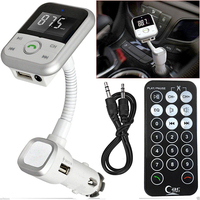 Handsfree Wireless Bluetooth Car Kit receiver FM Transmitter MP3 Player SD USB Mobile Phone Charger Car Kit Car Bluetooth Player