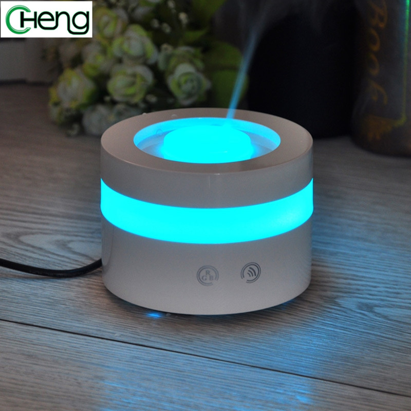 100ML Portable  Fashion LED  Light Aromatherapy Humidifier Moistener Atomization Essential Oil Diffuser Mist Maker Touch Button 2017 new 100ml usb aromatherapy humidifier moistener atomization essential oil diffuser mist maker led light touch button