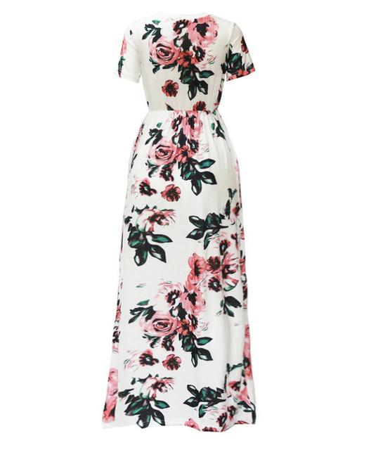 Summer Long Maxi Dress Floral Print Boho Beach Dress Tunic Bandage Bodycon Evening Party Dress Vestidos largos mujer Plus Size