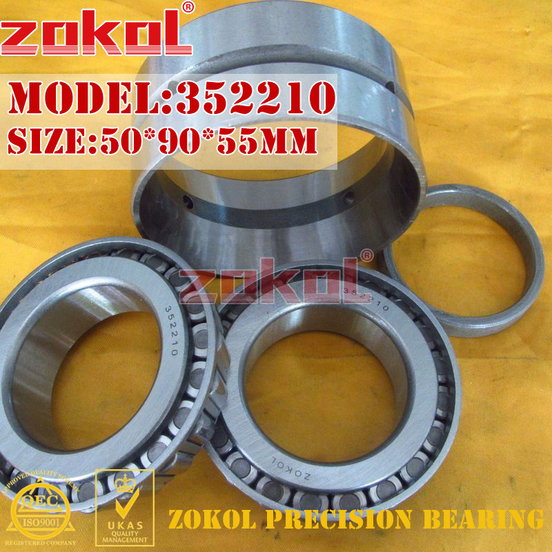 ZOKOL bearing 352210 97510E Tapered Roller Bearing 50*90*55mm zokol bearing 31310 27310e tapered roller bearing 50 110 29 5mm