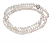 Eternal wedding Women Gift word Sterling silver real 2-3MM very fine ultra small circle near Mini freshwaterpearl Necklace S