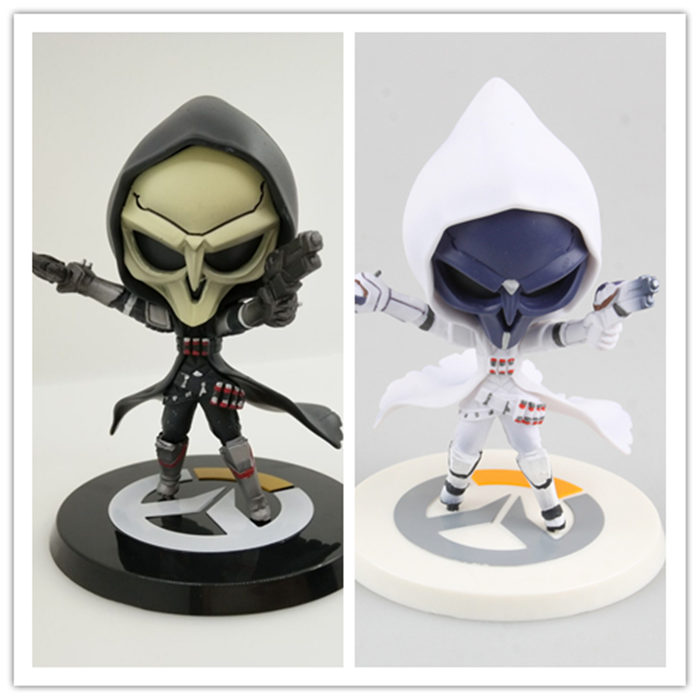 US $23 75 11% OFF|2pcs/lot Q version Game over watch Azrael black Death  Reaper Ripper Action Figure Collectible Model doll Toy kids child gift-in