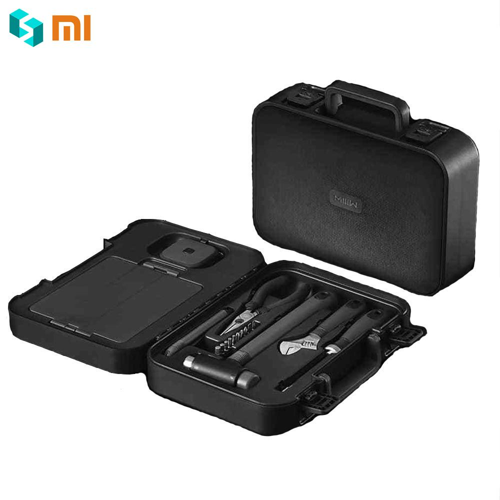 Original Xiaomi MIIIW 6+2 DIY Tools Kit Household Hand Repair Tools with Screwdriver Wrench Hammer Tape Plier Knife ToolBox