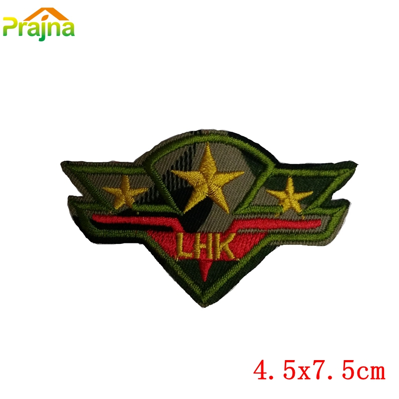 Hot Sale Cheap Embroidered Biker Military Patches For Kids Clothes Stickers Iron On Cool Punk Patch Badge Applique For Clothing