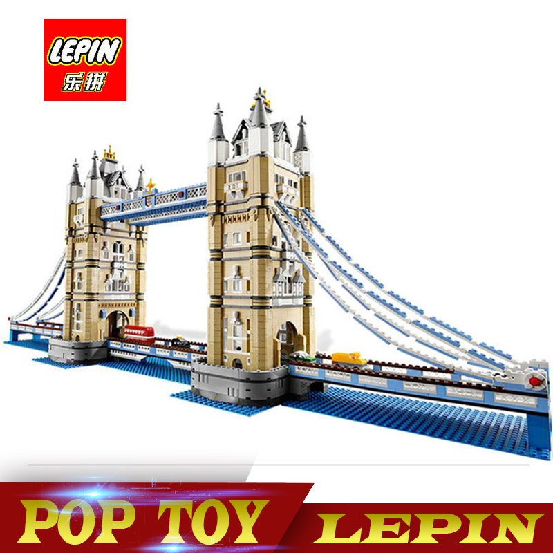 New Lepin 17004 4295Pcs Creator Expert London Tower Bridge Model Building Blocks BricksToys Gift Compatible legoed 10214 lepin 22001 pirate ship imperial warships model building block briks toys gift 1717pcs compatible legoed 10210