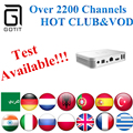 Tailândia IPTV Intbox i7 Android TV Box com 2200 + Power Afghanist Brasil Holandês Portugal Adulto Tv Por Assinatura IPTV Coreano Europa IPTV